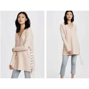 FREE PEOPLE Heart It Laces Oversized Sweater
